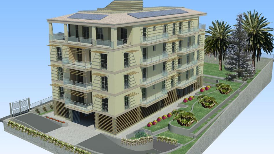 Architetto nikolova edificio residenziale con 16 for 1 piano garage con abitazione